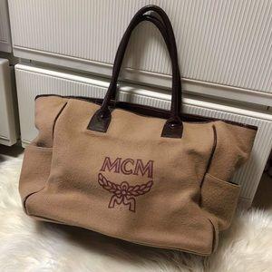 MCM VINTAGE TOTE WOOL/COTTON BAG VGC